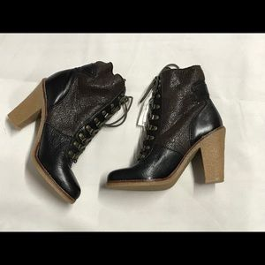 Sam Edelman Leather Lace Up Ankle Boots 7